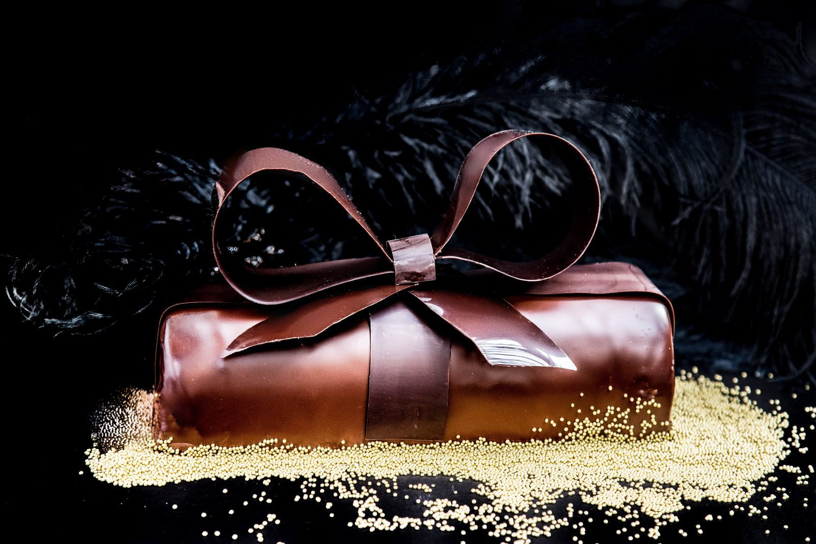 chocolate caramel cadeaux buche de noel thierry chocolates. Black Bedroom Furniture Sets. Home Design Ideas